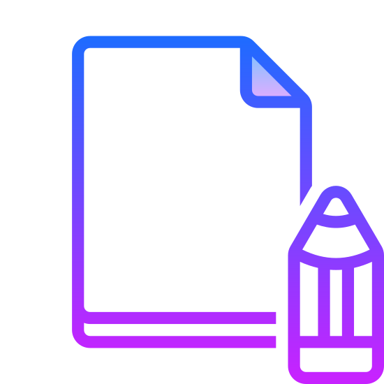 Edit File icon. The edit file icon, a piece of paper with the top right corner folded over. In the bottom right corner, an angled pencil obscures the paper. This is what people click to edit the file they're viewing.