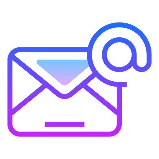 "Email icon. This is the ""at"" symbol for email. It is a lower case letter a. The straight line of the letter curves around the letter in a counter-clockwise circle. It overlaps where it begins, leaving the lower case letter a encircled in one continuous line."