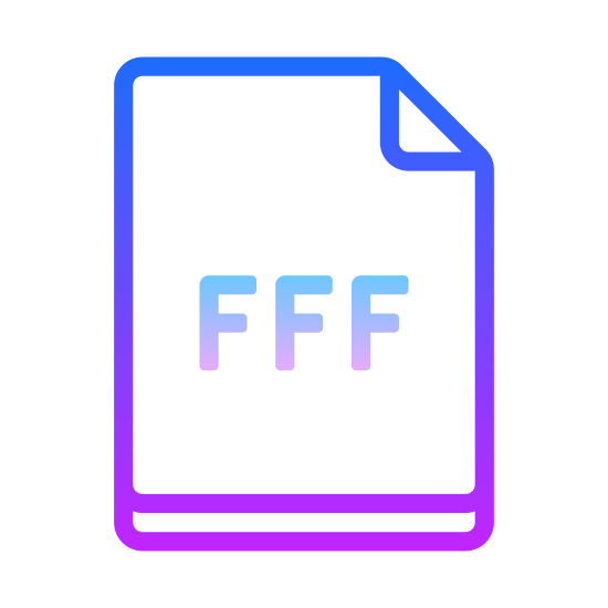 "FFF icon. It's a logo of a piece of paper with the top right corner folded over to make a triangle shape on the upper right area. Inside are three prominent letter ""F""s or in other words ""FFF""."