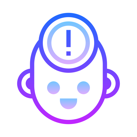 Beginner icon. Imagine a face out line of a man facing towards east or right. This outline doesn't contain eyes, ears, mouth. Inside the face outline at the center there is pencil like object with pointer facing downwards or south and right below the pointer there is a small square at some small distance.