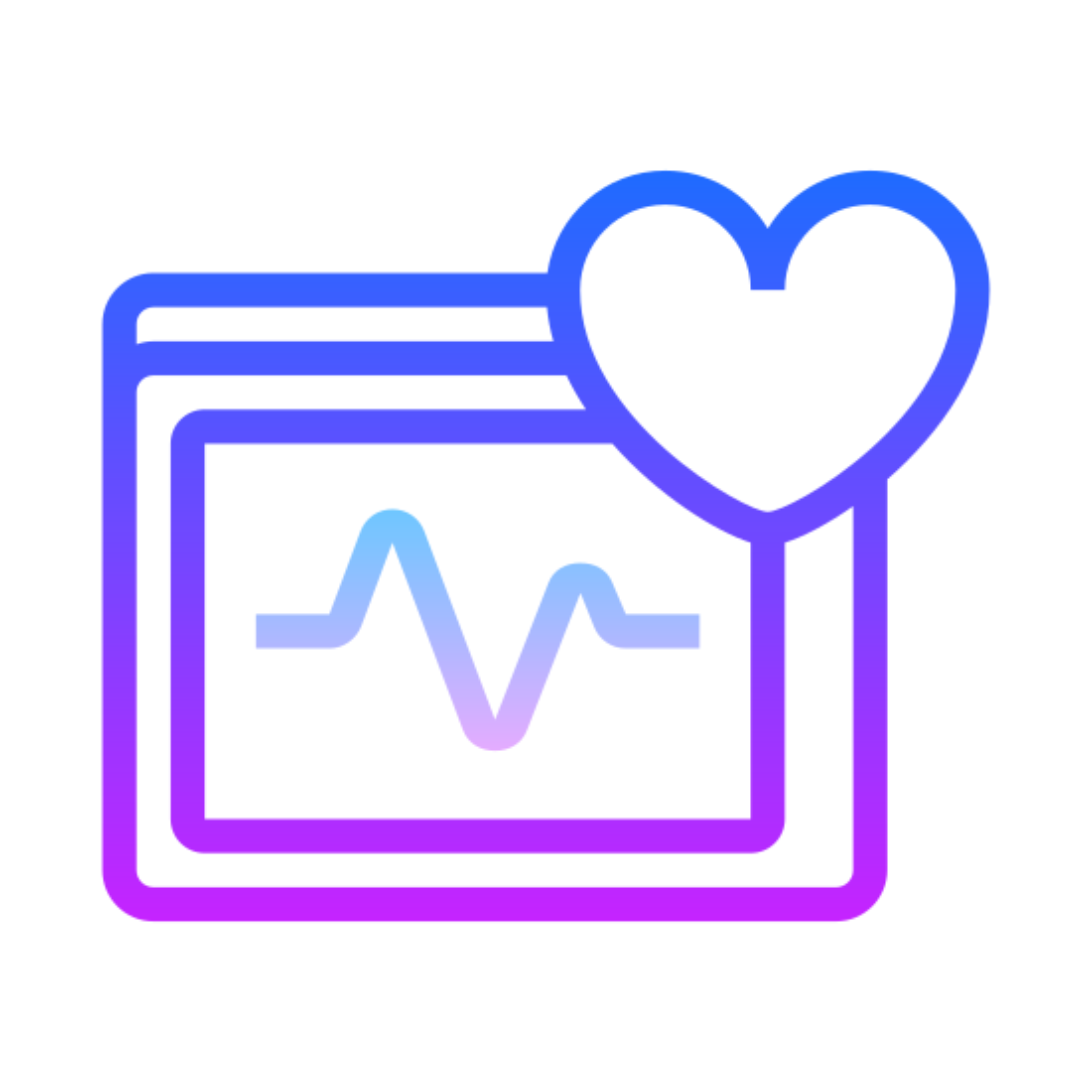 Serce monitora icon