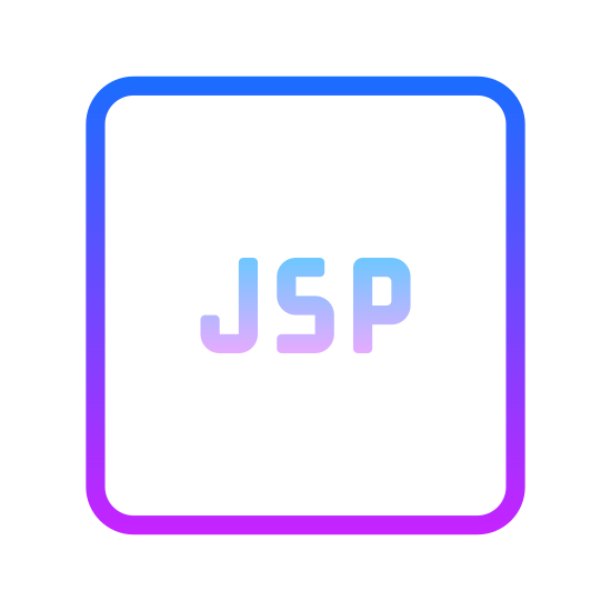 JSP icon. This icon is very straight forward. It is a square with 3 letters in the center of it. The letters are all upper case. They are J, S, and P.