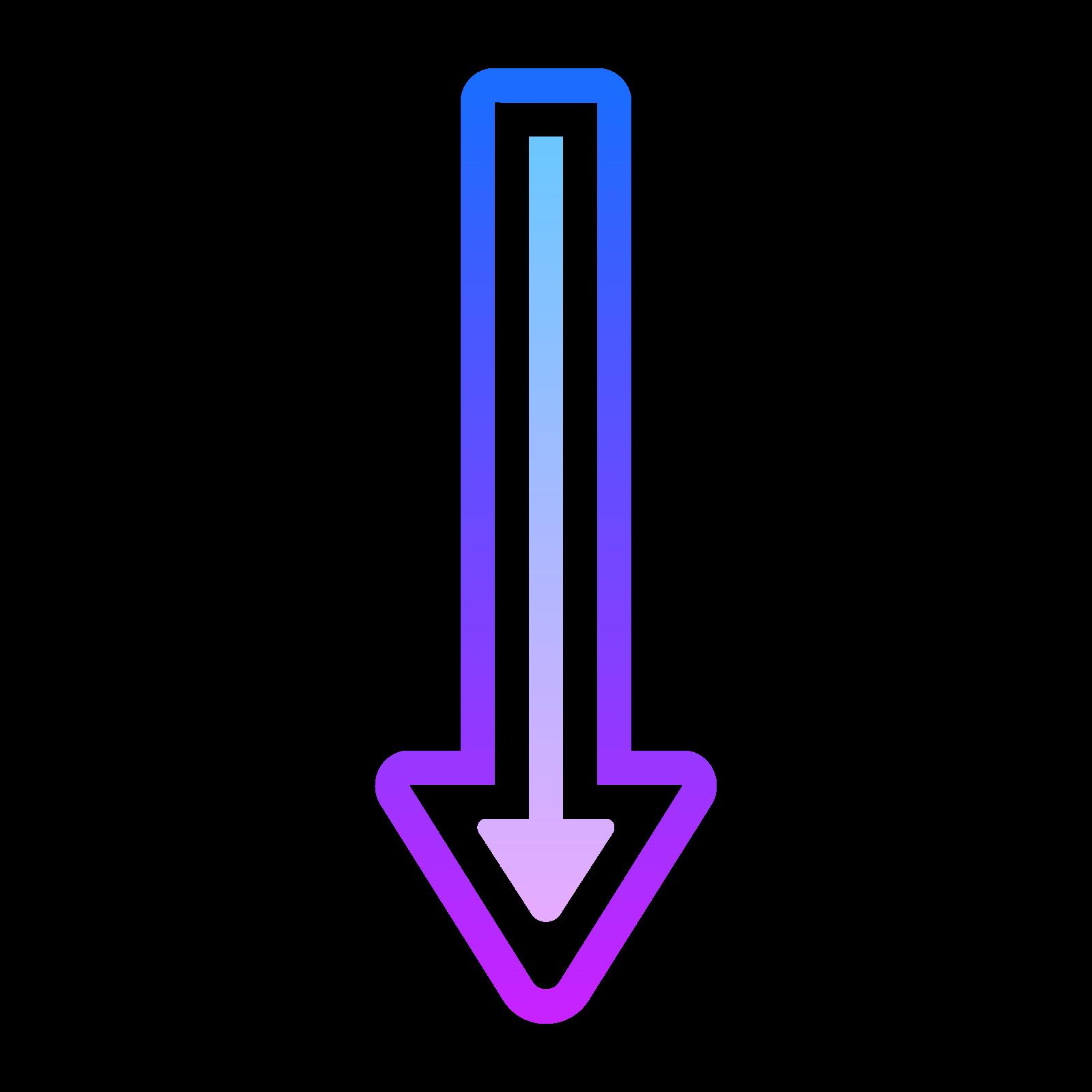 Długa Strzałka w dół icon