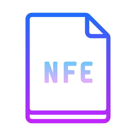 NEF icon. The icon is depicting a sheet of paper. The top right corner is folded down, forming a right triangle pointing inwards towards the center of the paper. The bottom of the triangle is about 1/5 of the way down the page. In the center of the paper are the letters NEF all capitalized.