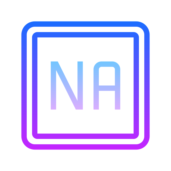 """Nie dotyczy icon. It's a logo for the words """"Not Applicable"""". It is a box with rounded corners. Inside the box are the letters N and A. Both of them are capitalized."""