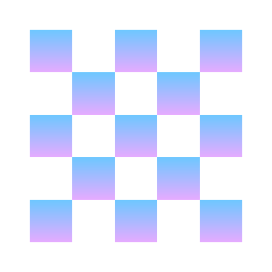 Opacity icon. The image is a square that is made up of a lot of little squares. Some of the squares are darkened and other are not. Along the outer edge of the bigger square, some of the squares are opened on one side.