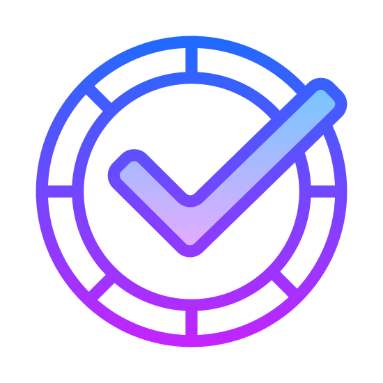 Realtime icon. The icon of Realtime Protetion is a circle repersenting a clock. It has dash marks at 12, 3 ,6, and 9 just like a normal clock. Inside the clock is a check mark that reaches a peak at the middle where the hands should go with the check mark stretching out beyond the clock frame at the 2 pm mark.