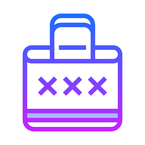 Redeem icon. The redeem icon is represented with a bracket on the two sides. On the inside of the bracket there will be three X's to represent the items that have been redeemed by the other person.