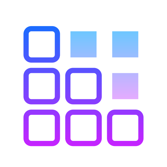 Registry Editor icon. This is an icon that looks like a broken cube made up of 9 small blocks of the same size. There are three rows of 3 blocks with the last one on each row falling off.