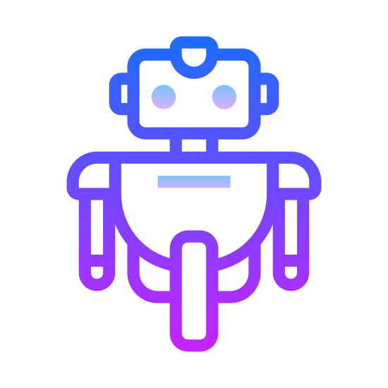 Robot 3 icon. It's a logo of Robot 3 reduced to a picture of an ordinary looking robot. Instead of mechanical legs, the robot has one singular wheel. Similar to the robot from the Disney movie Wall-E.