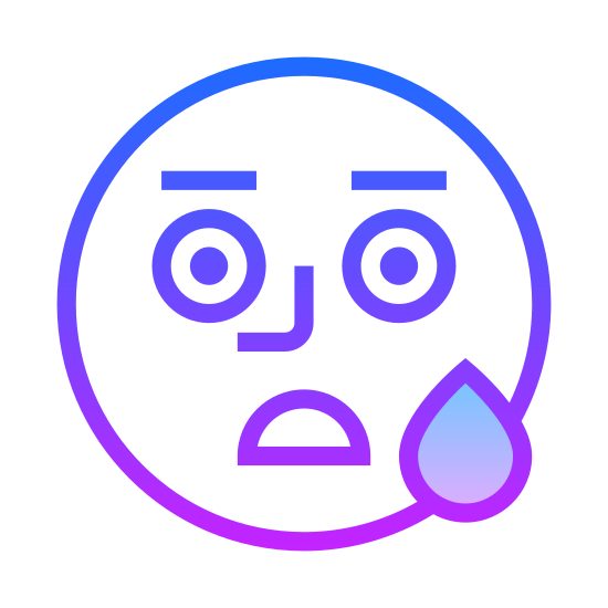 Smutny icon. This is a picture of a face that is frowning. It looks very sad. It doesn't have nose, just two small black eyes and a frown. It is a simple circle, not really a person who you could recognize.