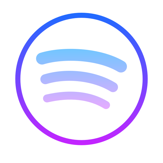 Spotify icon. The icon Spotify is in a circle. Inside the circle are three bubble lines, starting at the bottom the line is small, then it is slightly larger, then the top line is the largest.