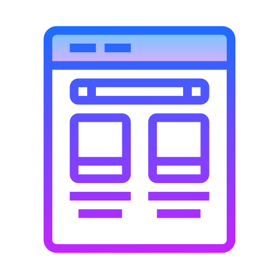 Template icon. This particular icon is compromised of multiple rectangles that are sitting inside of an oulined square.  Each rectangle is positioned to convey that they are the shape of cabinet doors