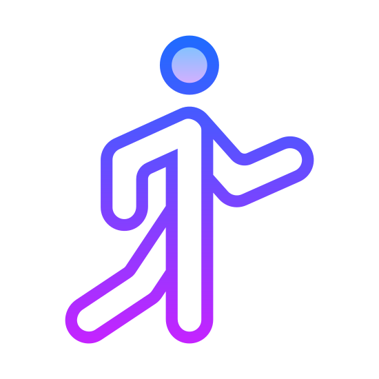 Pieszy icon. This icon is like a three dimension stick person. It looks like the drawing on the bathroom doors. The stick man seems to be walking away and is headed to the right of the picture.