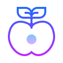 Half Cut Apple icon