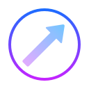 Upward Right icon