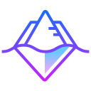 Linha gradiente icon