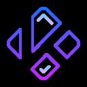 Línea de gradiente icon