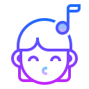 Laid-back icon