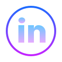 LinkedIn cerchiato icon