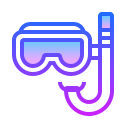 Máscara com snorkel icon