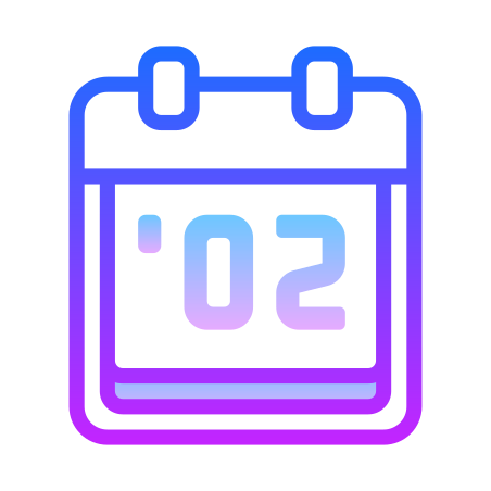 2002 icon in Gradient Line