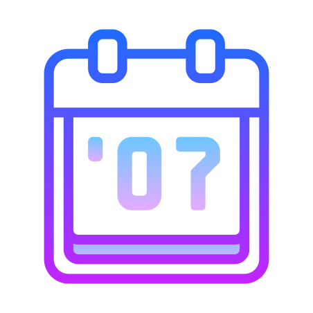 2007 icon in Gradient Line