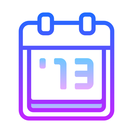 2013 icon in Gradient Line