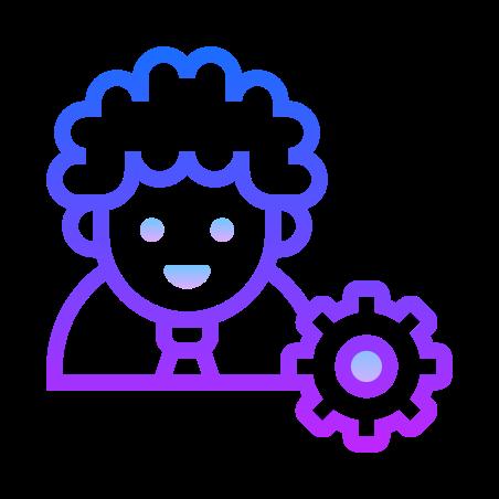 Admin Settings Male icon