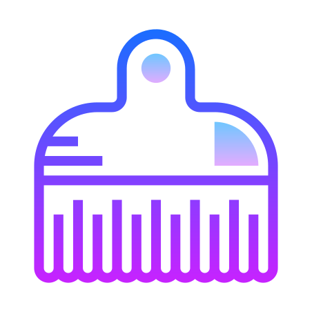 Afro Pick icon in Gradient Line
