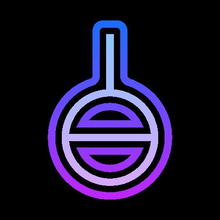 Agender Symbol icon in Gradient Line