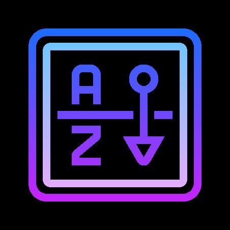 Clasificación por orden alfabético icon