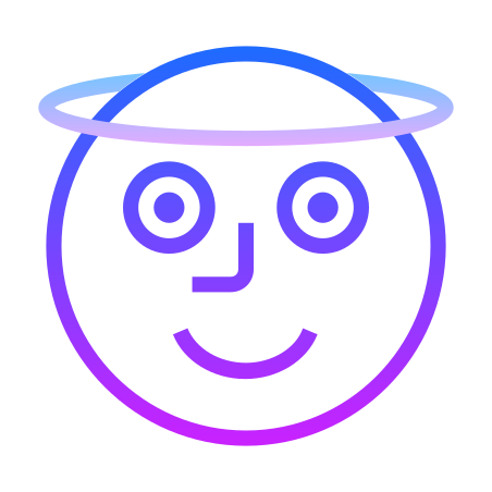 Angel icon in Gradient Line