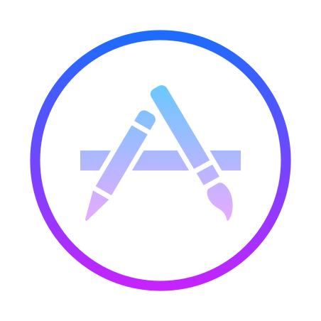 App Store icon in Gradient Line