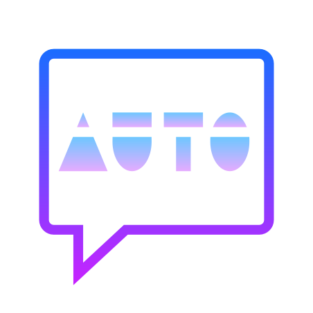 Auto SMS icon in Gradient Line
