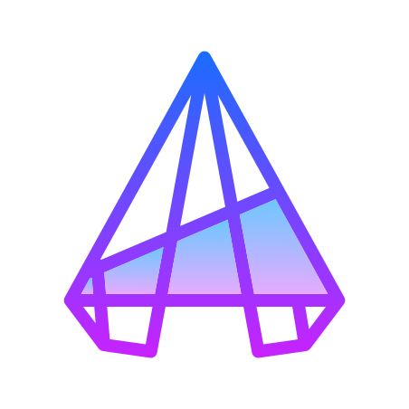 AutoCAD를 icon in Gradient Line