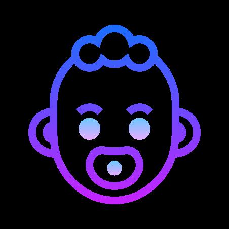 Babys Room icon in Gradient Line