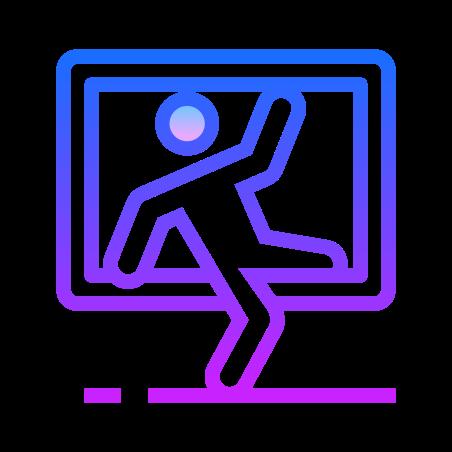 Burglary icon in Gradient Line