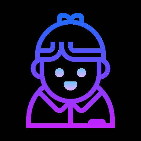 Businessman icon in Gradient Line