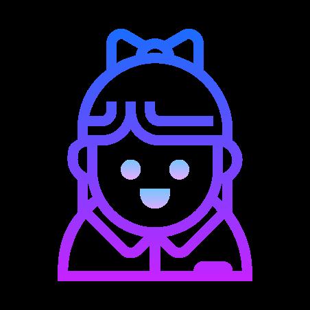 Businesswoman icon in Gradient Line