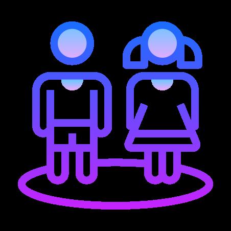 Child Safe Zone icon in Gradient Line