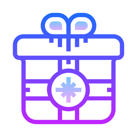 Christmas Gift icon in Gradient Line