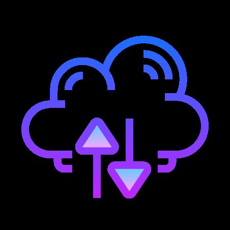 클라우드 백업 복원 icon