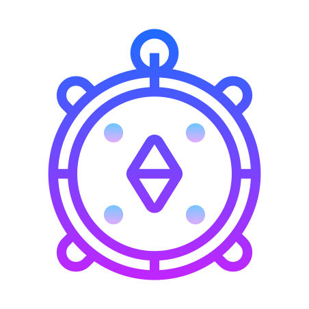 Compass icon in Gradient Line