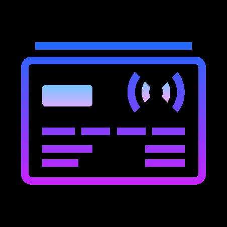 Kreditkarte kontaktlos icon