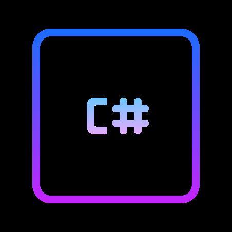 CS icon in Gradient Line
