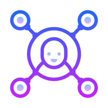 Customer Insight icon in Gradient Line