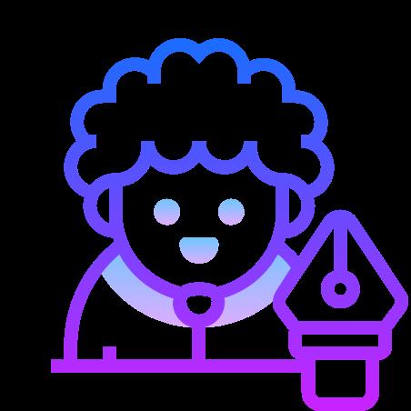 Designer icon in Gradient Line