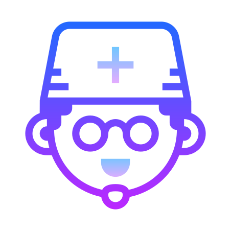 Doctor Male icon in Gradient Line
