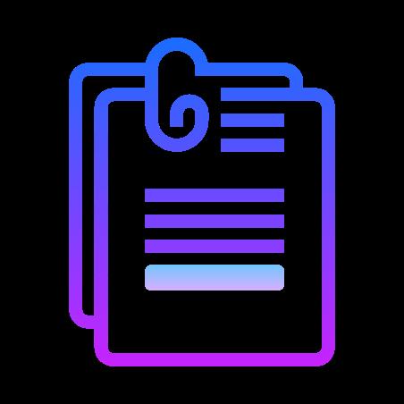 Documents icon in Gradient Line